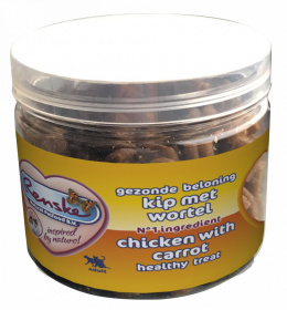 Renske Cat Healthy Mini Treat Chicken with carrots przysmak dla kotów kurczak z marchwią 100g