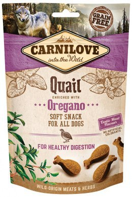 CARNILOVE SEMI MOIST SNACK QUAIL ENRICHED WITH OREGANO 200g