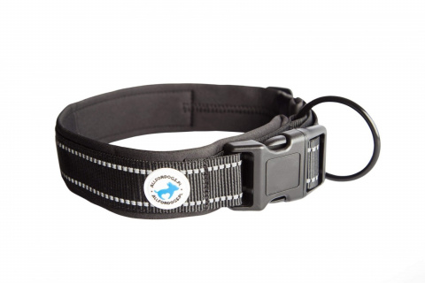 All For Dogs Black Obroża dla psa 45-56 cm L