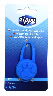 Zippy zawieszka do obroży LED 3x6,5x1 cm